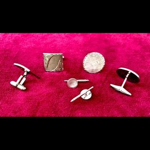 VINTAGE Assorted Sterling Silver Cuff Links